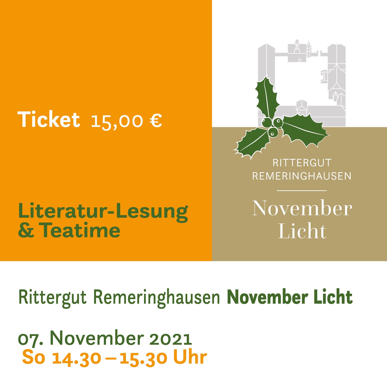 Literaturlesung & Teatime zum November Licht | Sonntag 1