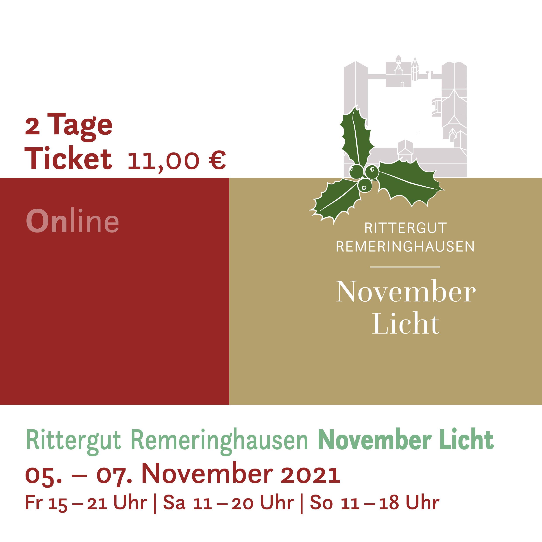 November Licht 2021 -  2Tages-Ticket