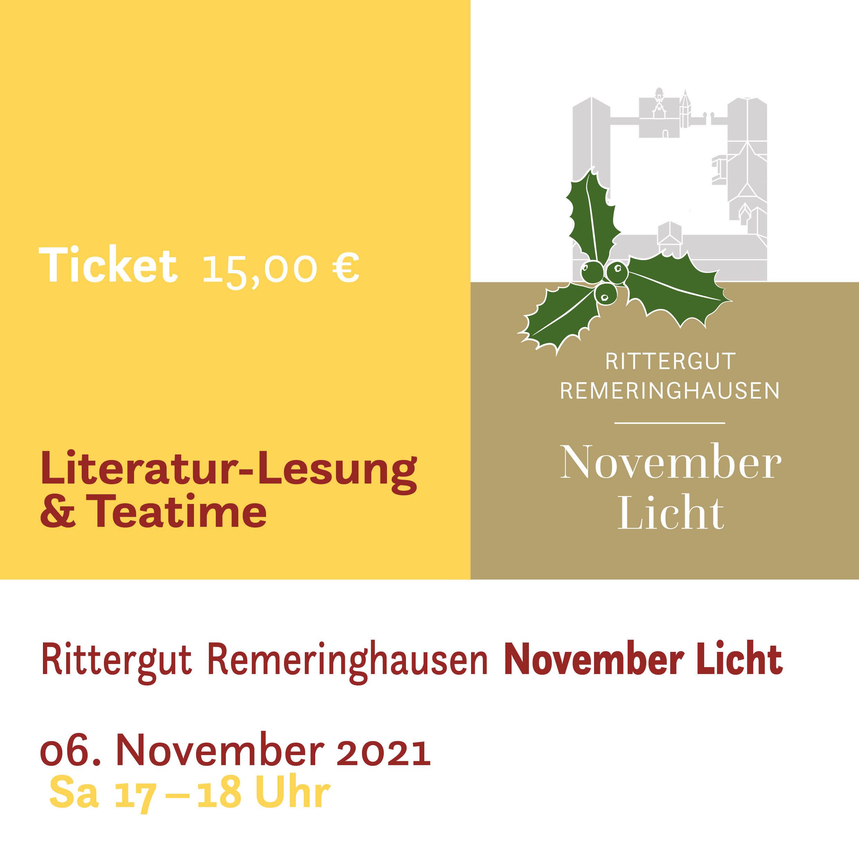 Literaturlesung & Teatime zum November Licht | Samstag 2